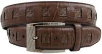 Stacy Adams Mens Cognac Crocodile Print  Leather Belt 6164