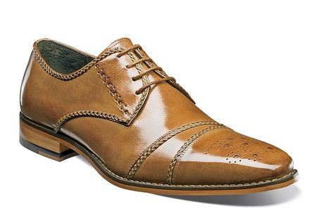 Stacy Adams Mens New Tan Fancy Cap Toe Talbot 25125-240 - click to enlarge