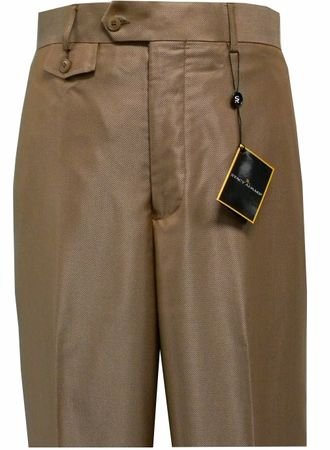 Stacy Adams Mens Rust Nailshead Wide Leg Dress Pants 9933 Size 30W, 38W