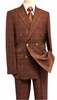 Stacy Adams Mens Rust Texture Square Double Breasted Suit Sam 5900-778 IS