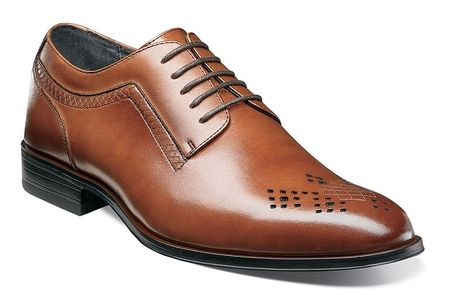 Stacy Adams Mens Shoes Scotch Tan Clean Perforated Toe Lace Up 25101-232 - click to enlarge