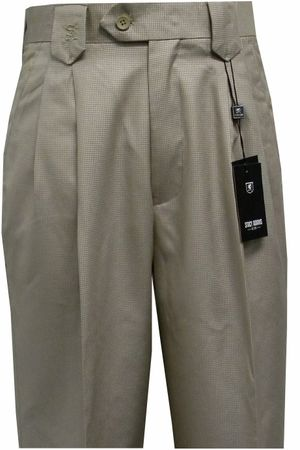 Stacy Adams Mens Tan Nailshead Wide Leg Dress Pants 502 Size 34W