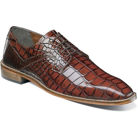 Stacy Adams Cognac Alligator Texture Dress Shoes 25211-975 OS   - click to enlarge