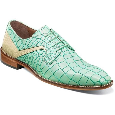 Stacy Adams Shoes Men's Aqua Alligator Print Leather 25211-454