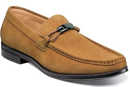 Stacy Adams Mustard Suede Loafers Moc Toe Neville 25224-240