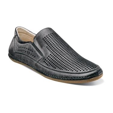 Stacy Adams Northshore Gray Perforated Slip On Shoes 24863-020 IS