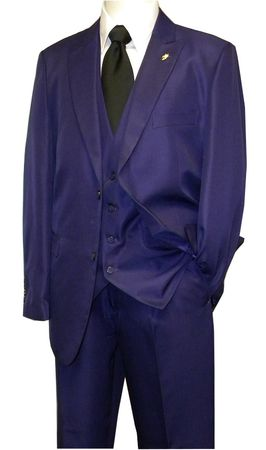Falcone Purple 3 Piece Suit Vett Vested 3869-019 OS - click to enlarge