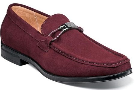 Stacy Adams Ox Blood Suede Loafers Moc Toe Neville 25224-603