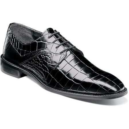 Stacy Adams Black Alligator Texture Dress Shoes 25211-001 OS   - click to enlarge