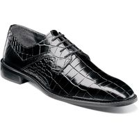 Stacy Adams Black Alligator Texture Dress Shoes 25211-001 OS
