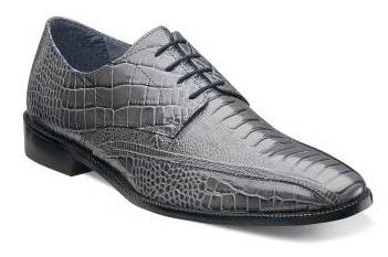 Stacy Adams Mens Shoes Gray Alligator Style Kaleb 24986-020 IS