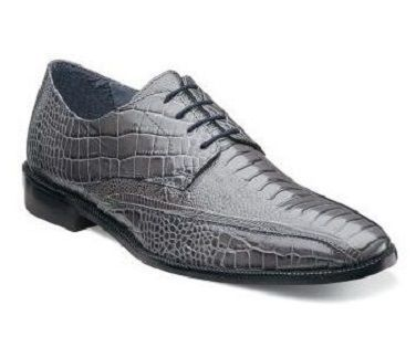 Stacy Adams Mens Shoes Gray Alligator Style Kaleb 24986-020 Size 8.5