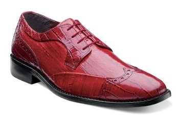 Stacy Adams Shoes Mens Red Wingtip Lace Up Galletti 24936-600 IS
