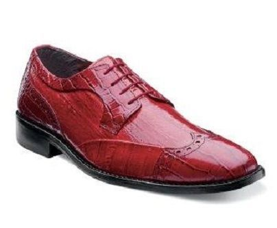 Stacy Adams Shoes Mens Red Wingtip Lace Up Galletti 24936-600 Size 8.5, 11