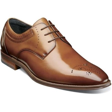 Stacy Adams Shoes Cognac Plain Toe Oxford 25346-221