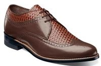 Stacy Adams Dayton Brown Woven Wingtip Shoes 00624-209