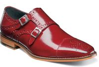 Stacy Adams Red Double Monk Strap Shoes 25194-600