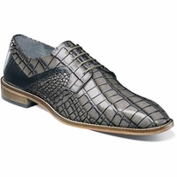 Stacy Adams Gray Alligator Texture Dress Shoes 25211-975 OS