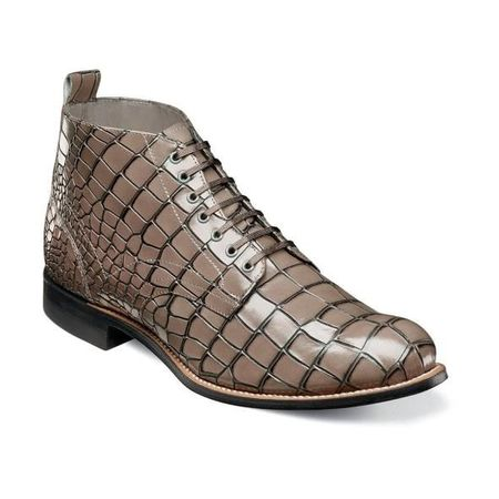Stacy Adams Boots Men's Gray Alligator Print Madison 00106-020