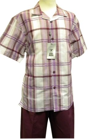 Stacy Adams Grape Stripe Linen Casual Walking Set 9508 - click to enlarge