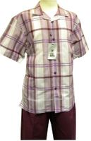 Stacy Adams Grape Stripe Linen Casual Walking Set 9508