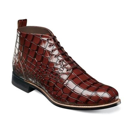 Stacy Adams Boots Men's Cognac Alligator Print Madison 00106-221