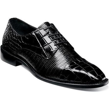 Stacy Adams Shoes Black Alligator Texture Cap Toe 25321-001 IS