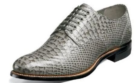 Stacy Adams New Madison Men's Gray Snake Motif Shoes 00055-020 Size 8 and 11.5 Final Sale