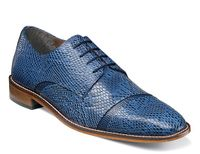 Stacy Adams Mens Blue Snake Printed Leather Shoes 25086-400 OS