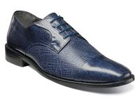 Stacy Adams Blue Leather Lizard Texture Shoes 25051-400 OS