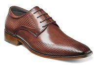 Stacy Adams Shoes Chestnut Leather Print Wingtip 25079-205 OS