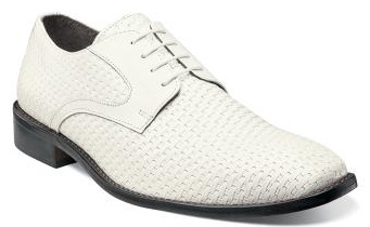 Stacy Adams Mens White Weave Leather Shoes Sanfillipo 24938-100 IS