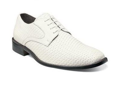Stacy Adams Mens White Weave Leather Shoes Sanfillipo 24938-100 Size 8.5