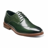 Stacy Adams Shoes Green Wingtip Oxford Alaire 25128-304