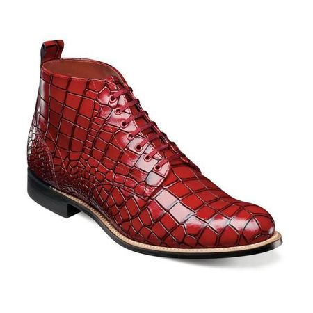 Stacy Adams Boots Men's Red Alligator Print Madison 00106-600