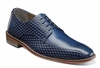 Stacy Adams Shoes Men's Blue Leather Italian Bike Toe 25174-400