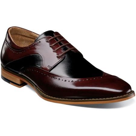 Stacy Adams Men's Shoes Burgundy Black Top 25292-641 IS
