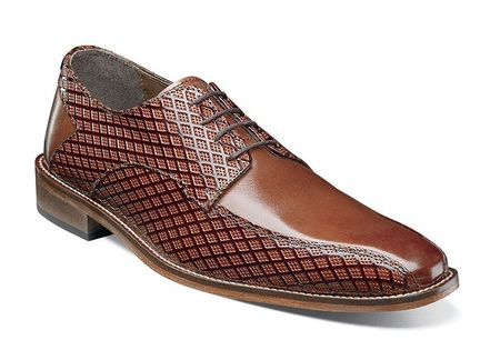Stacy Adams Shoes Men's Cognac Brown Stylish Bike Toe 25174-221 - click to enlarge