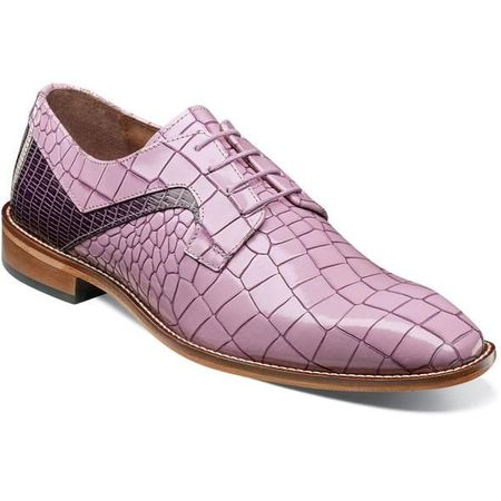 Stacy Adams Shoes Men's Lavender Alligator Print Leather 25211-541 IS - click to enlarge