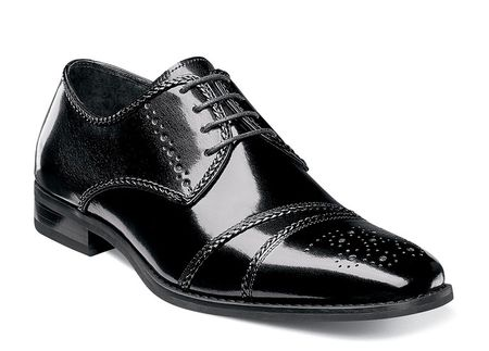 Stacy Adams Shoes Mens Black Braid Trim Cap Toe Talbot 25125-001 - click to enlarge