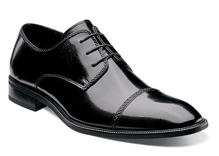Stacy Adams Shoes Mens Black Leather Cap Toe Braden 24972-001 OS - click to enlarge
