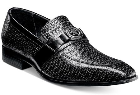Stacy Adams Shoes Mens Black Medallion Loafer 25106-001 OS - click to enlarge