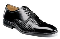 Stacy Adams Shoes Mens Black Stylish Texture Cap Toe 25180-001