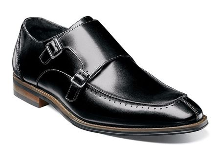 Stacy Adams Shoes Mens Black Two Buckle Leather 25188-001