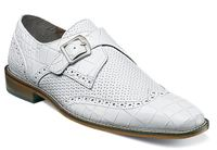 Stacy Adams All White Mens Wingtip Monk Strap Shoes 25084-100 OS