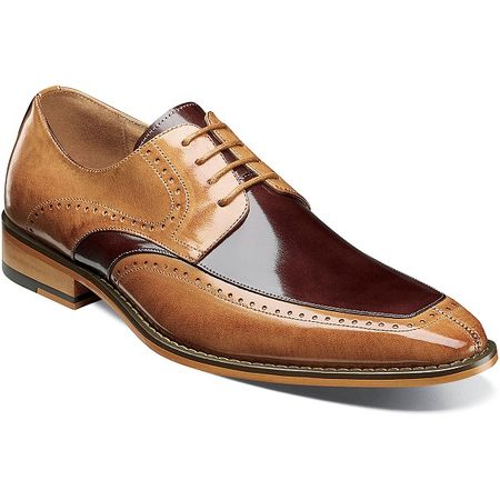 Stacy Adams Dress Shoes Tan Brown Leather Split Toe 25240-238