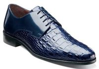 Stacy Adams Mens Blue Gator Print Shoes Florio 24935-400 IS