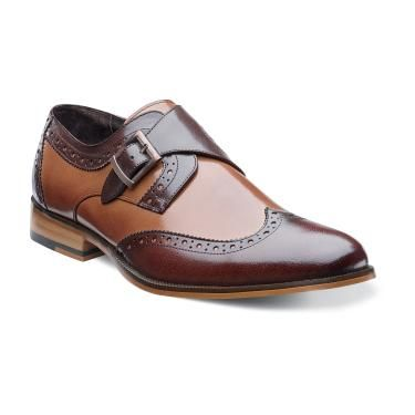 Stacy Adams Shoes Brown Tan Monk Strap Stratford 24973-238 Size 11.5 Final Sale