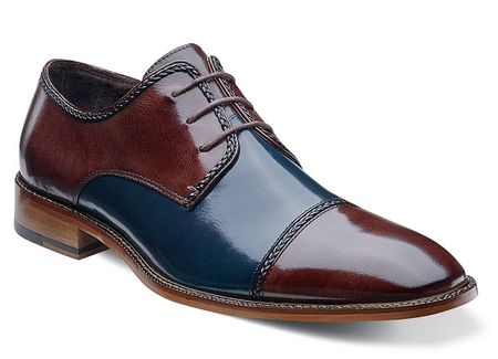 Stacy Adams Shoes Mens Navy Multi Cap Toe Braden 24972-492 OS - click to enlarge