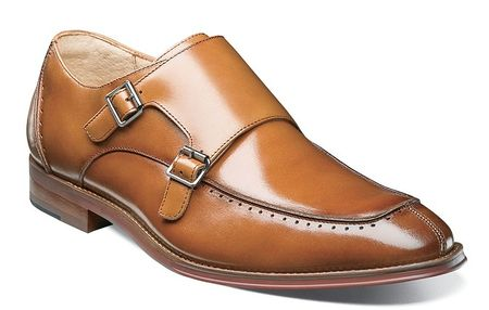 Stacy Adams Shoes Mens Tan 2 Buckle Leather 25188-240